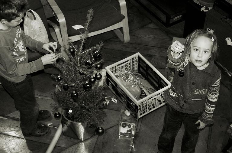 preparazione albero di natale