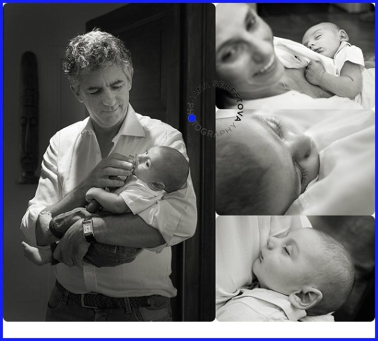 genitori con bimbo neonato in braccio